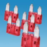 Red 10 Amp Mini Blade Fuse ( Pack 5)